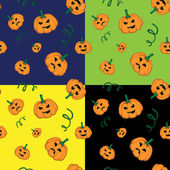 Halloween vector seamless texture — Stock Vector