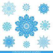 Set of vectors snowflakes — Stock Vector