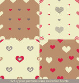 Cute seamless patterns for Valentine's day design. — Stock Vector