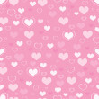 Hearts seamless background — Stockfoto