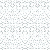 Simple seamless pattern with heart symbol. — Stock Vector