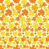 Naadloze patroon met kleurrijke Herfstbladeren. — Stockvector
