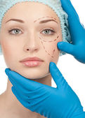 Before plastic surgery operation — Stock Photo