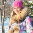 Winter woman in park — Stock Photo #14926943