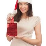 Woman with Christmas gift — Stock Photo #14952491