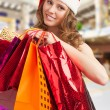 Christmas woman shopping — Stock Photo #14953373