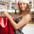 Christmas woman shopping - Stock Photo