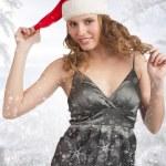 圣诞冬季女人 — 图库照片