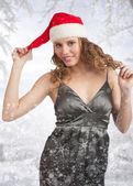 Christmas winter woman — Stock Photo