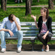 Young couple in quarrel — Stock Photo #15323357