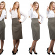 Collage of business woman in different poses — Stock Photo #15521339