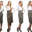 Collage of business woman in different poses — Stock Photo