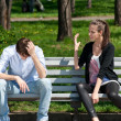 Young couple in quarrel — Stock Photo