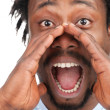 Man screaming out loud - Stock Photo