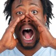 Royalty-Free Stock Photo: Man screaming out loud