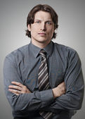 Handsome young businessman — Stock Photo