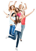 Group of happy cheerful women — Stockfoto