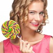 Beautiful girl with lollipop - Photo