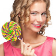Beautiful girl with lollipop - Stock Photo