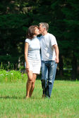 Kissing beautiful couple — Stock Photo