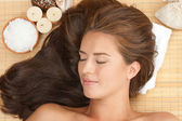Beautiful woman at spa salon — Stock Photo