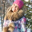 Winter woman in park — Stock Photo #15608979