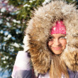 Stock Photo: Winter woman in park