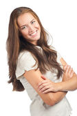 Young woman with crossed arms — Stock Photo