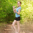 Stock Photo: Fitness woman with skipping rope