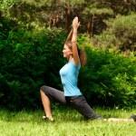 Woman doing yoga meditation — Stock Photo #16906271