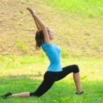 Woman doing yoga meditation — Stock Photo #16909949