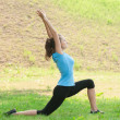 Woman doing sports stretching exercise — Stock Photo #16909953