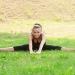 Woman doing sports stretching exercise — Stock Photo #16910007