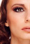 Mujer con maquillaje — Foto de Stock