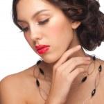 Постер, плакат: Woman with red lipstick