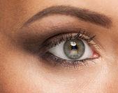 Kvinna öga med smink — Stockfoto