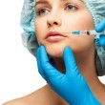 Botox injection — Stock Photo