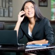 Business woman on cell phone — Stock Photo #17637285