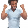 Excited man celebrating success — Stock Photo