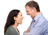 Couple quarreling — Stock Photo