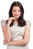 Pretty young woman thinking — Stock Photo