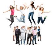 Grupo de feliz alegre — Foto de Stock