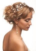 Güzel bir saç modeli olan kadın — Stok fotoğraf