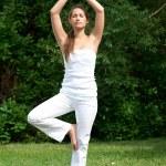 Woman doing yoga meditation — Stock Photo #17642797