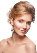 Woman with makeup and hairstyle — Stock Photo