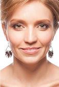 美しい化粧と女性 — ストック写真