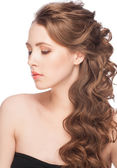 Woman with hairstyle — Stock Photo