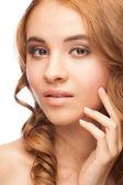 漂亮的女人和健康的皮肤 — 图库照片