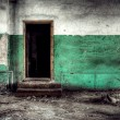 Room with door — Stockfoto