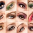 Stock Photo: Eye make-up